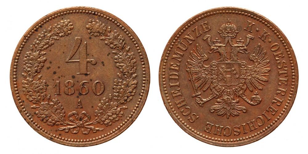 Ferenc József 4 krajcár 1860 A