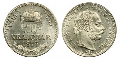 Ferenc József  10 krajcár 1875 KB VP R!