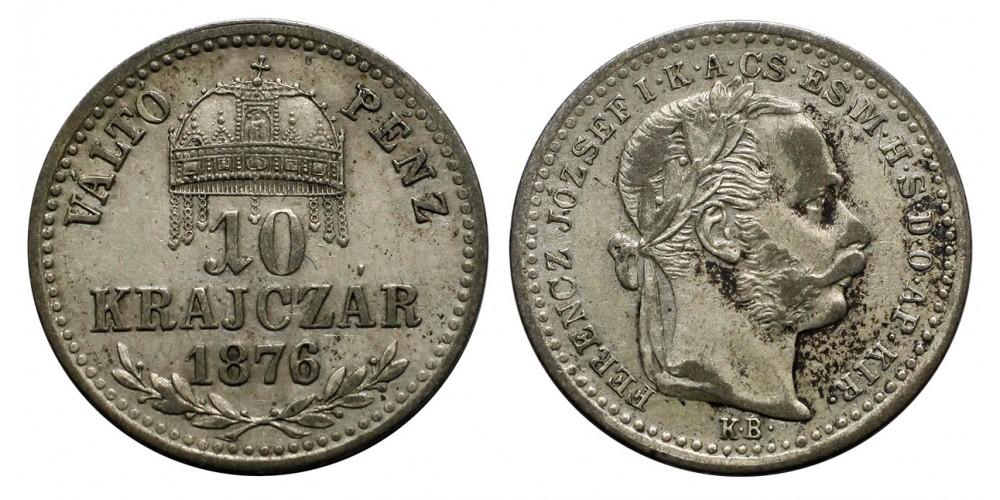 Ferenc József  10 krajcár 1876 KB