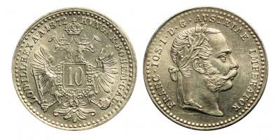 Ferenc József 10 krajcár 1872
