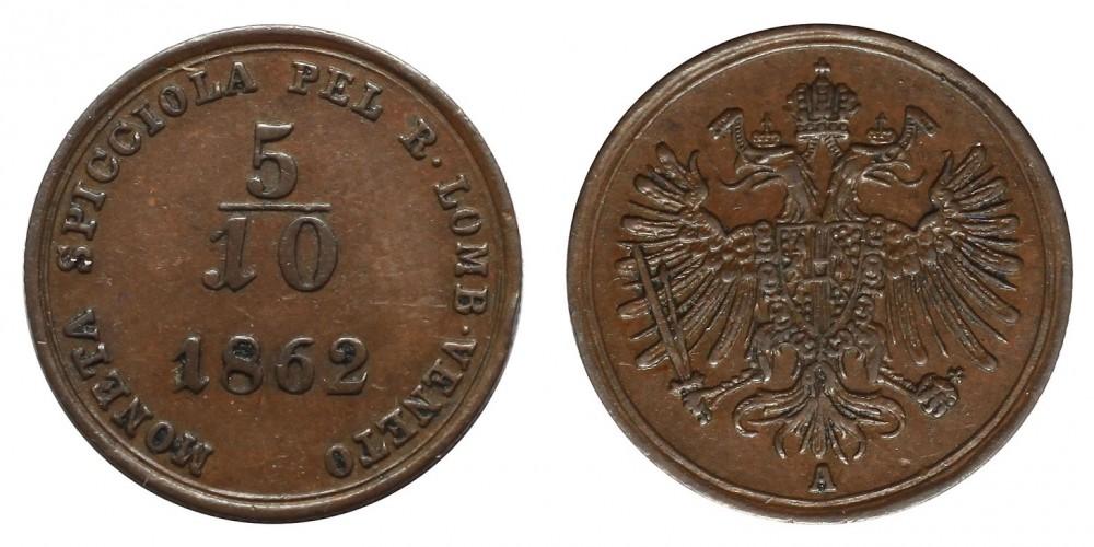 Lombardia-Venezia 5/10 soldo 1862
