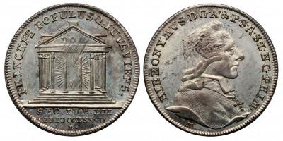 Salzburg-Erzbistum Hieronymus Graf Colloredo 1772-1803 ezüst zseton (10 krajcár) 1782