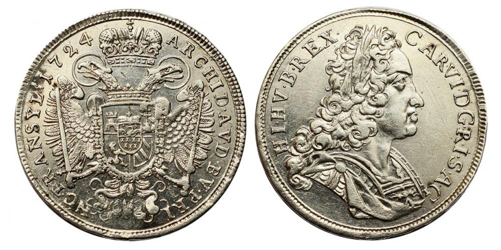 III.Károly 1/2 tallér 1724 Erdély
