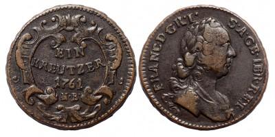 Lotharingiai Ferenc krajcár 1761 NB.