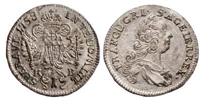Lotharingiai Ferenc krajcár 1758 KB.
