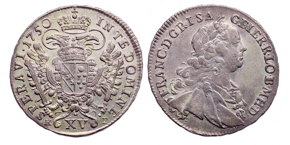 Lotharingiai Ferenc XV krajcár 1750 KB.