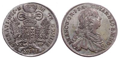 Lotharingiai Ferenc XVII krajcár 1765 KB.