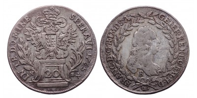 Lotharingiai Ferenc 20 krajcár 1765 NB/B