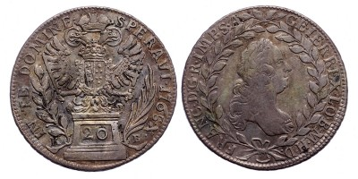 Lotharingiai Ferenc 20 krajcár 1765 KB