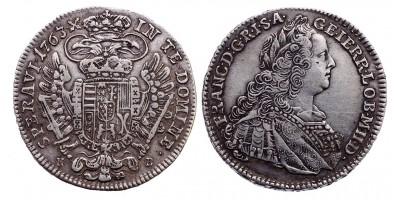 Lotharingiai Ferenc 1/2 tallér 1763 KB.