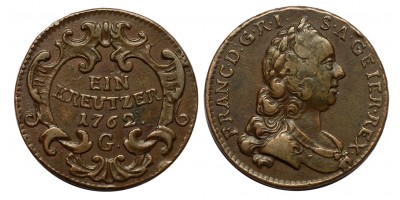 Lotharingiai Ferenc krajcár 1762 G