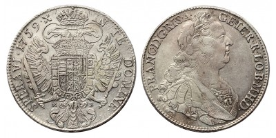Lotharingiai Ferenc tallér 1759 KB.