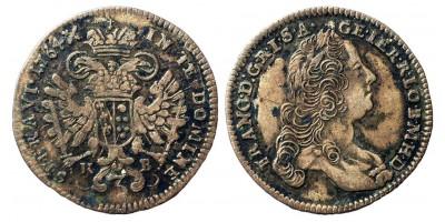 Lotharingiai Ferenc  3 krajcár 1764 KB
