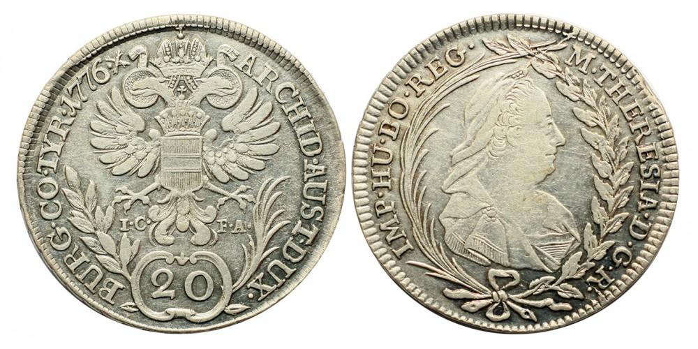 Mária Terézia  20 krajcár 1776 I.C.F.A