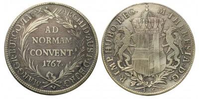 Mária Terézia Konvenciós Tallér 1767 S-C