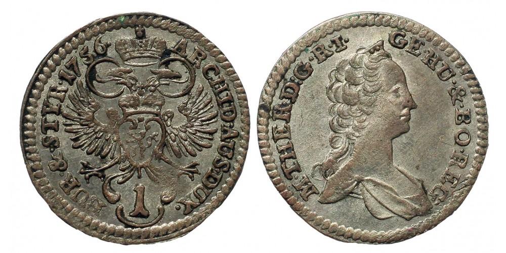 Mária Terézia 1 kreuzer 1756