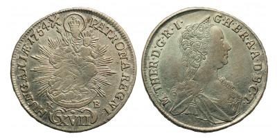 Mária Terézia 17 Krajcár 1754 KB