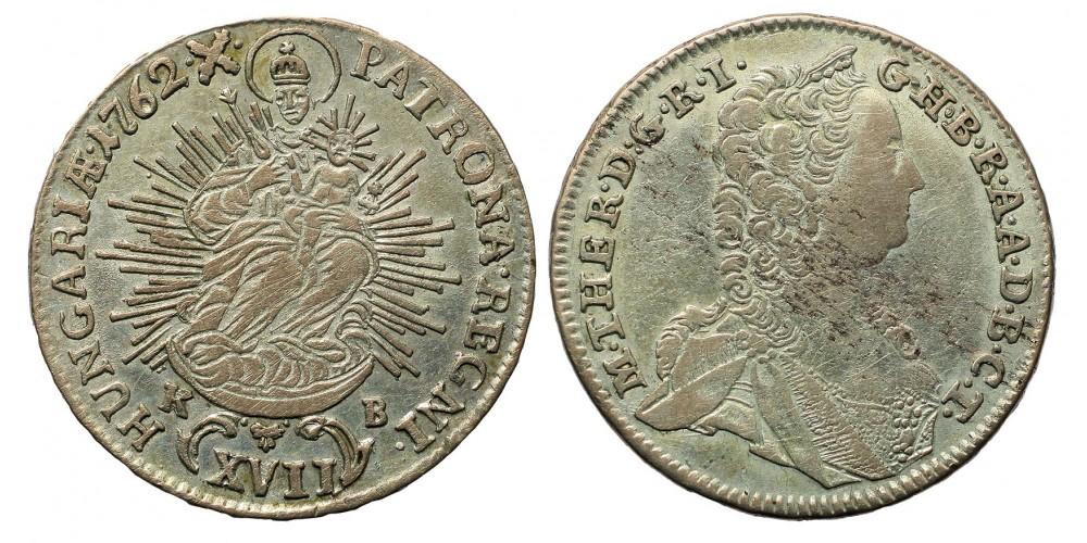 Mária Terézia 17 Krajcár 1762 KB