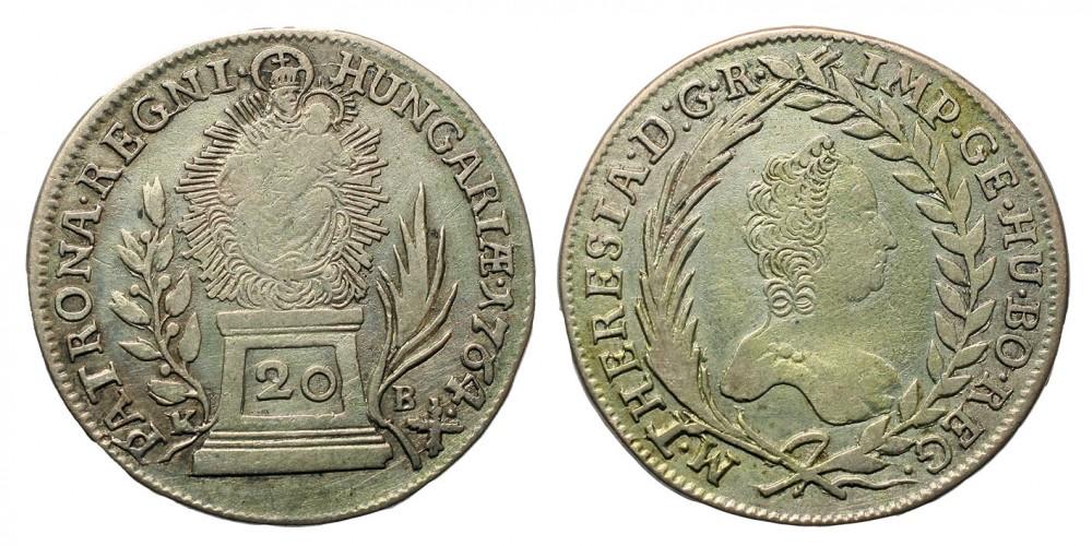 Mária Terézia 20 Krajcár 1764 KB