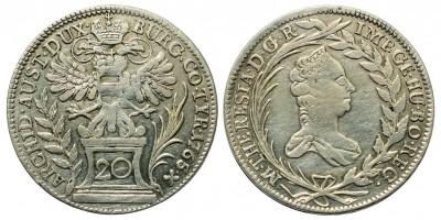 Mária Terézia 20 Krajcár 1765 Bécs