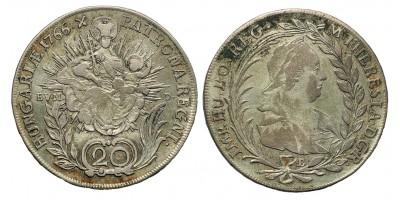 Mária Terézia 20 Krajcár 1766 B