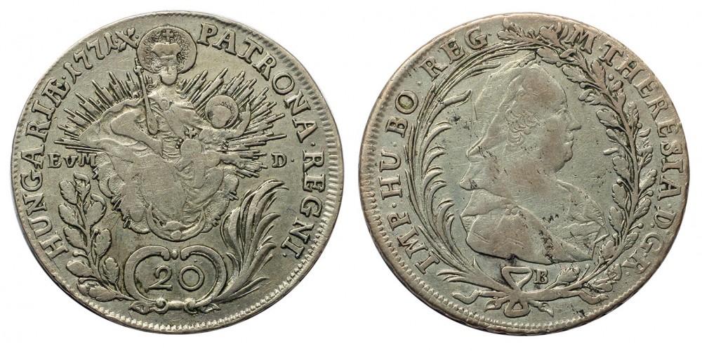 Mária Terézia 20 Krajcár 1771 B
