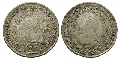 Mária Terézia 20 Krajcár 1773 I-B-I-V