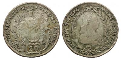 Mária Terézia 20 Krajcár 1769 I-B-F-L