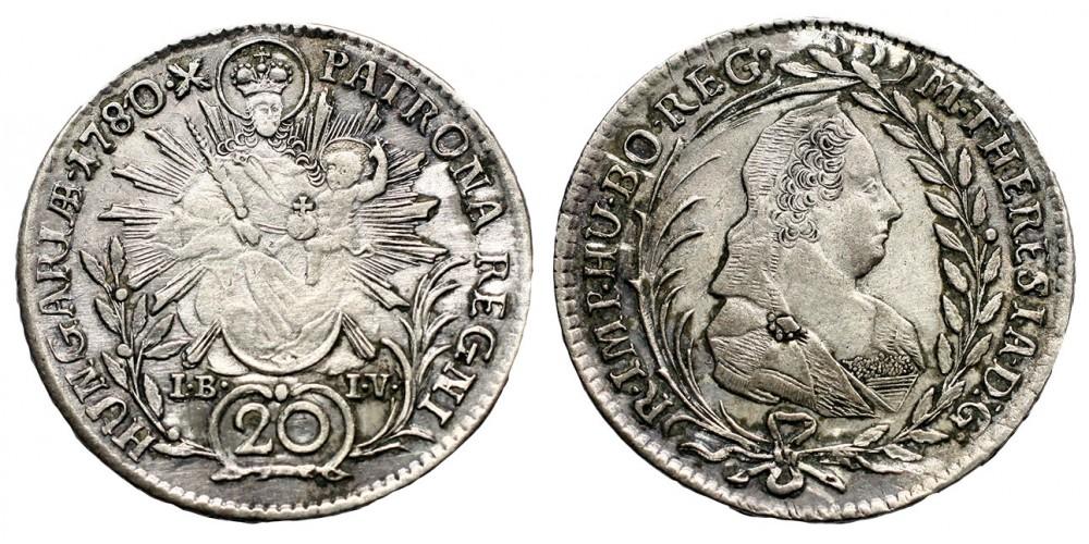 20 krajcár 1780 I-B I-V
