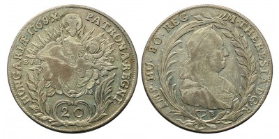 Mária Terézia 20 Krajcár 1768 B