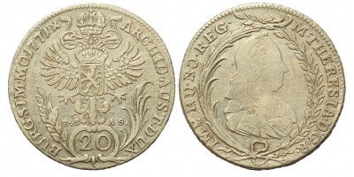Mária Terézia 20 Krajcár 1771 Prága
