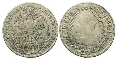 Mária Terézia 20 Krajcár 1771 Bécs