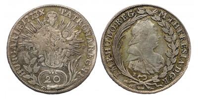 Mária Terézia 20 Krajcár 1773 B