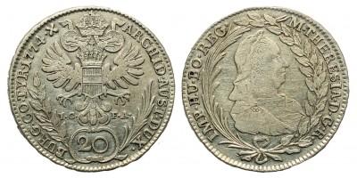 Mária Terézia 20 Krajcár 1774 Bécs