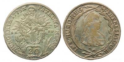 Mária Terézia 20 Krajcár 1775 B