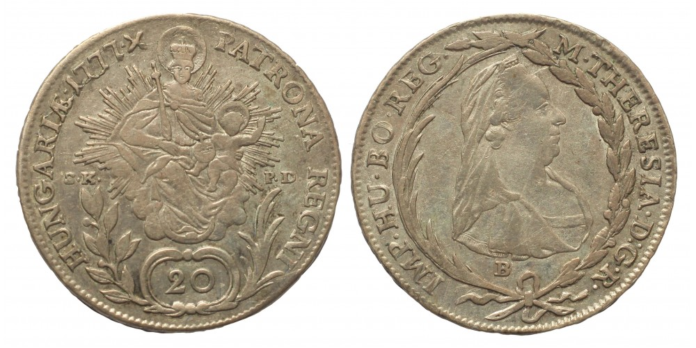 Mária Terézia 20 Krajcár 1777 B