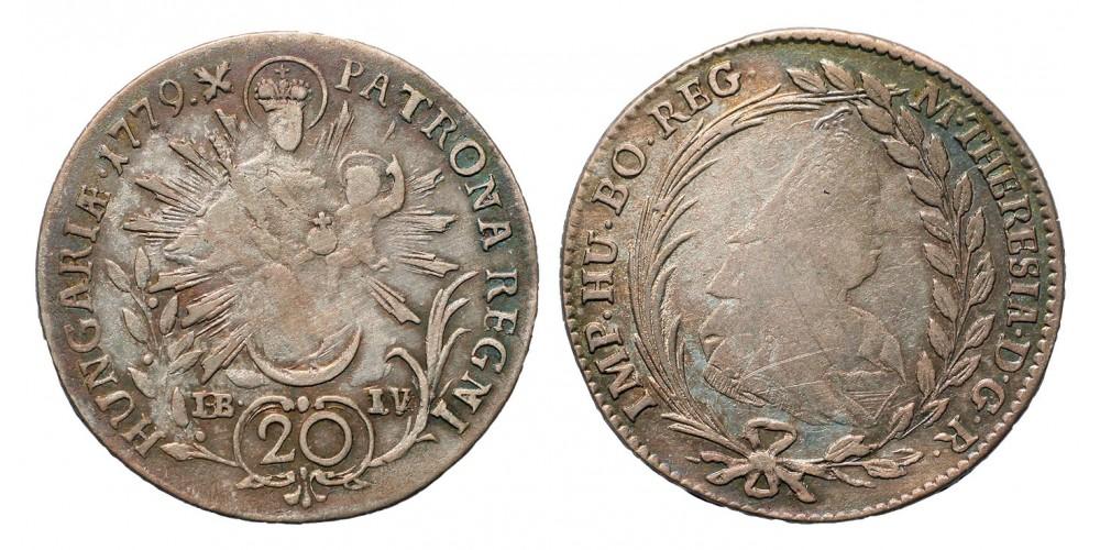 Mária Terézia 20 Krajcár 1779 I-B-I-V