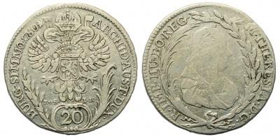 Mária Terézia 20 Krajcár 1780 Prága