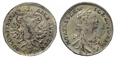 Mária Terézia 3 kreuzer 1764