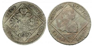Mária Terézia 30 Krajcár 1765 Bécs