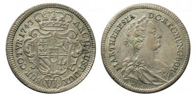 Mária Terézia VI kreuzer 1743