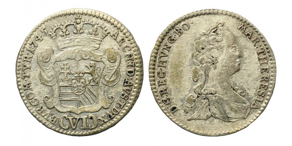 Mária Terézia VI kreuzer 1745