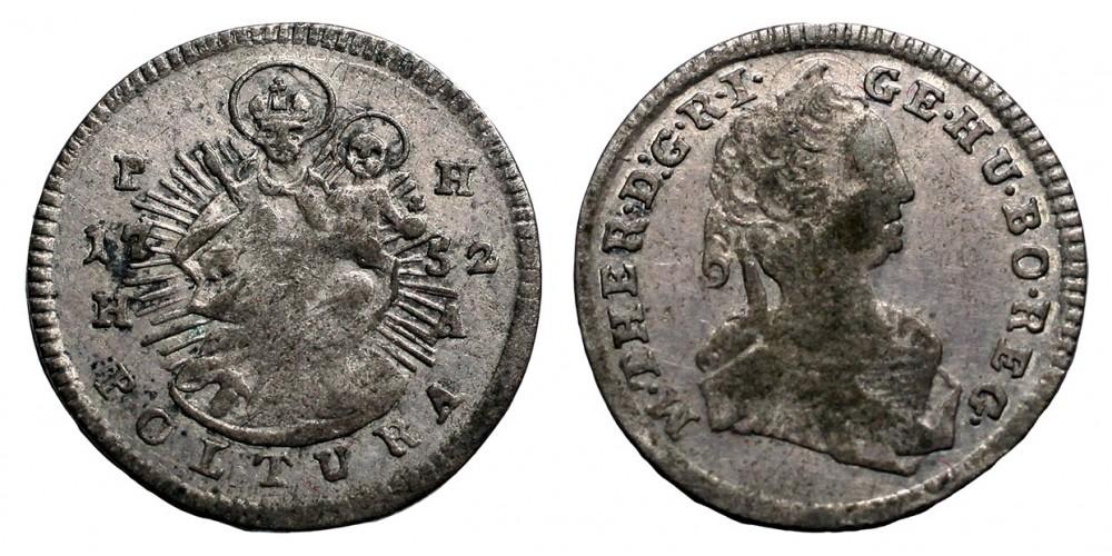 Mária Terézia poltura 1752 PH HA