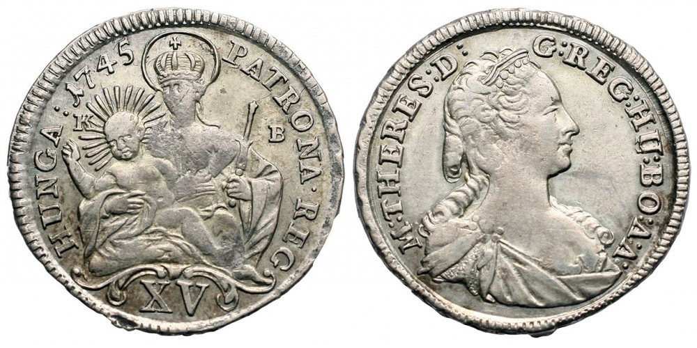 Mária Terézia 15 krajcár 1745 KB