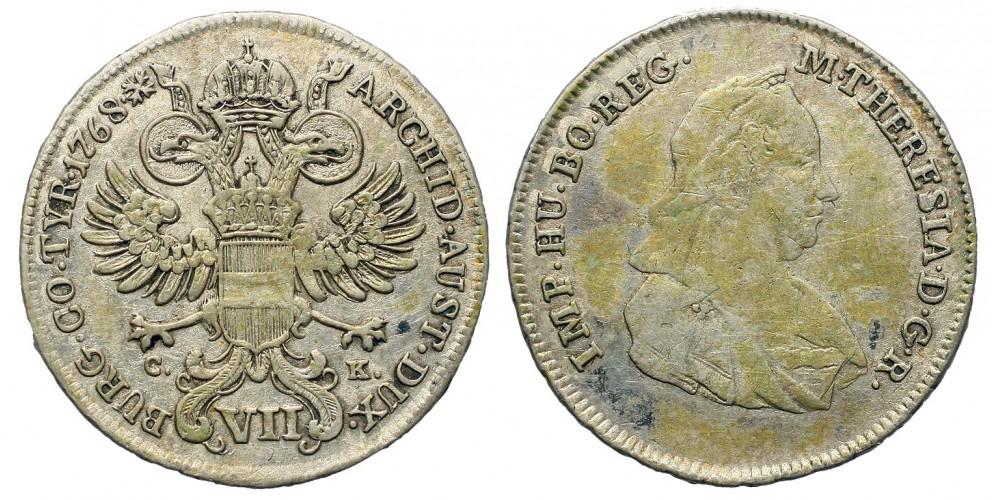 Mária Terézia VII krajcár 1768 Bécs