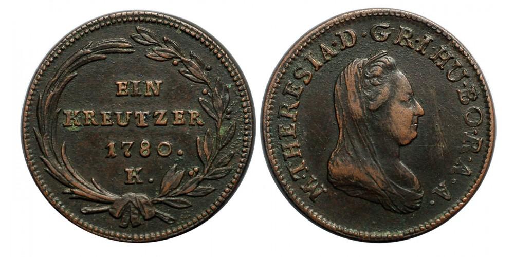 Mária Terézia 1 krajcár 1780 K