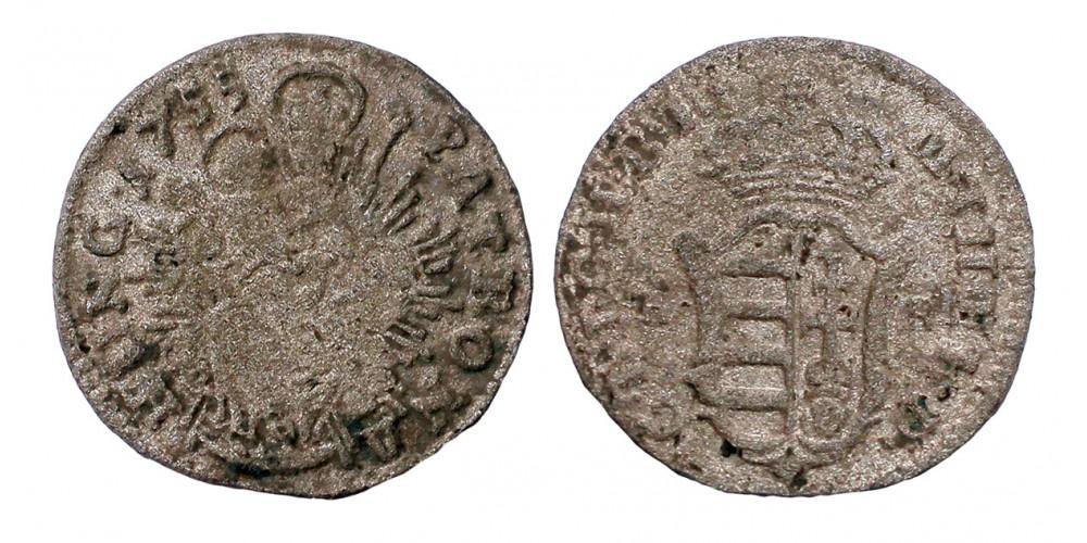 Mária Terézia denár 1755 KB