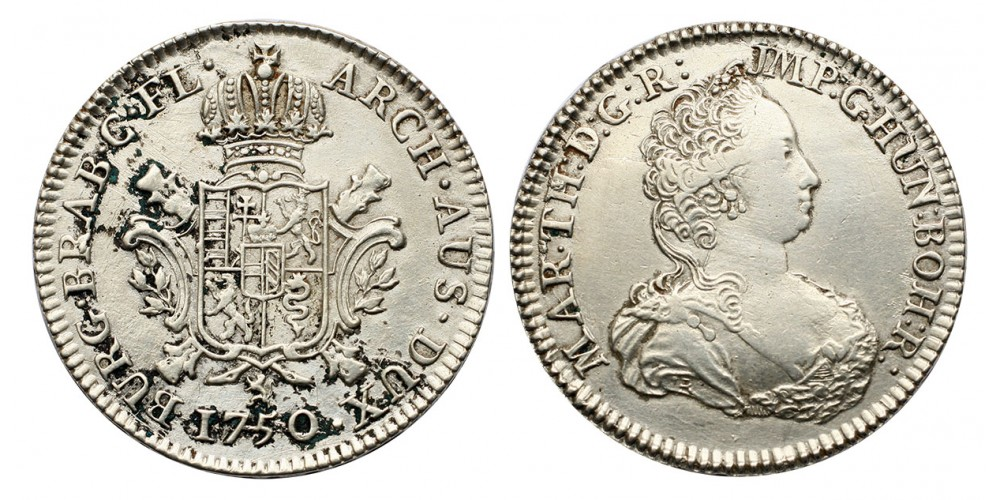 Mária Therézia 1/2 ducaton 1750 Brugges
