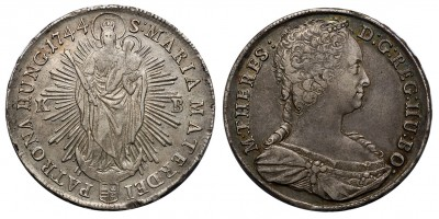 Mária Terézia tallér 1744 KB