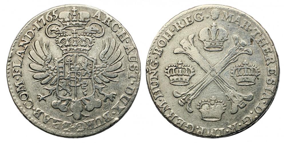 Mária Terézia  1/2 koronatallér 1765 Brüsszel